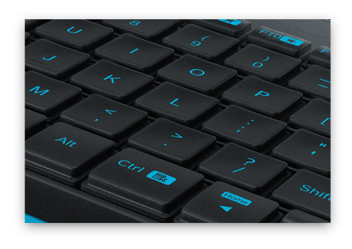 """Украсьте рабочий стол ярким, компактным и удобным комплектом """"клавиатура + мышь""""! Logitech Wireless MK240"""