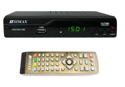 Бюджетный DVB-T2 тюнер для приема цифровых эфирных каналов - Simax VA2103HD FTA PVR