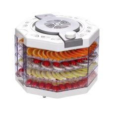 Сушка для фруктов Vinis VFD-410W, 400Вт, 35–70°С, 4 высоких лотка, термостат, автоотключение, белый