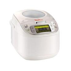 Мультиварка Moulinex Spherical Bowl MK8121 32, 750Вт, 5л, дисплей, антипригарная чаша, 45 программ, жарка, йогурт, выпечка, пицца, десерты, функции: отсрочка старта, поддержка температуры, белый