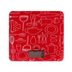 Весы кухонные Magio MG-690 красный, 5кг, электронные, красный
