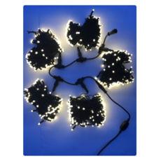 Светодиодная уличная гирлянда для деревьев 750 ламп, 5 разветвлений по 20м, свет белый теплый, провод черный (толщина 2,2мм; кол-во жил 5), тип свечения: постоянное