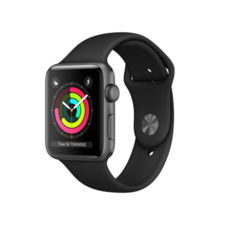 Часы Apple Watch 42mm Space Gray Aluminum Sport Band Black S3 (MQL12)