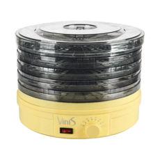 Сушка для фруктов Vinis VFD-361C, 360Вт, 35–70°С, 5 лотков, термостат, автоотключение, регулируемые поддоны, бежевый