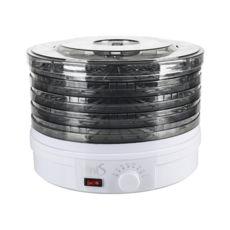 Сушка для фруктов Vinis VFD-361W, 360Вт, 35–70°С, 5 лотков, термостат, автоотключение, регулируемые поддоны, белый