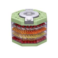 Сушка для фруктов Vinis VFD-410G, 400Вт, 35–70°С, 4 высоких лотка, термостат, автоотключение, зеленый