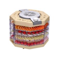 Сушка для фруктов Vinis VFD-410C, 400Вт, 35–70°С, 4 высоких лотка, термостат, автоотключение, бежевый