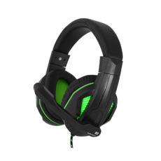 Наушники Gemix N2 LED black-green игровые
