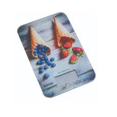 Весы кухонные Rotex RSK14-P Berry, 5кг, электронные, стекло/рисунок