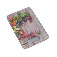 Весы кухонные Rotex RSK14-P Grape, 5кг, электронные, стекло/рисунок