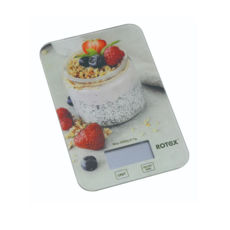 Весы кухонные Rotex RSK14-P Yogurt, 5кг, электронные, стекло/рисунок