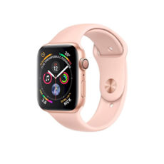 Apple Watch Series 4 GPS 44mm Gold Aluminum Case with Pink Sand Sport Band MU6F2