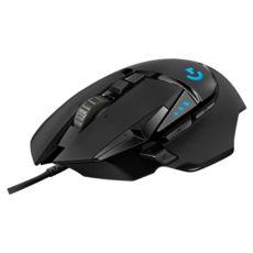 Мышь Logitech G502 Hero High Performance (910-005470) Проводная, Геймерская,тип сенсора - оптический, HERO, разрешение (max) - 16000 dpi, USB, черный