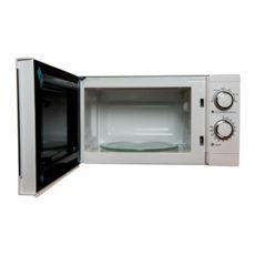 Микроволновая печь Vegas VME-2020SL, 20л, 700Вт, механика, внутреннее покрытие антипригарное, дверца открывается кнопкой, белый