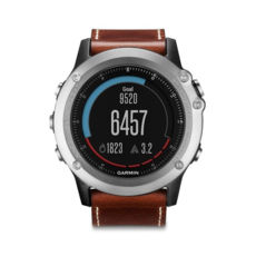 Спортивные часы Garmin Fenix 3 Sapphire Silver with Leather Band (010-01338-62) витрина