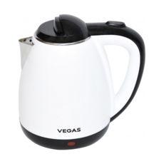 Чайник Vegas VEK-4070W, 1500Вт, 1.8л, дисковий, нержавіюча/білий