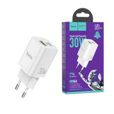 Зарядний пристрій USB 220В Hoco N13 Bright PD30W+QC3.0 white