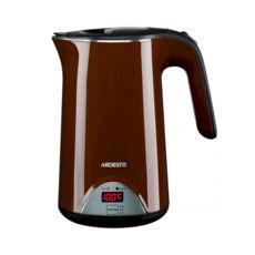 Чайник Ardesto EKL-1617BN, 1800Вт, 1.7л, підтримка температури (40-60-80-100 ° C), дисковий, двошаровий корпус з внутрішньої колбою з нержавіючої сталі, коричневий