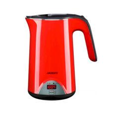 Чайник Ardesto EKL-1617RD, 1800Вт, 1.7л, підтримка температури (40-60-80-100 ° C), дисковий, двошаровий корпус з внутрішньої колбою з нержавіючої сталі, червоний